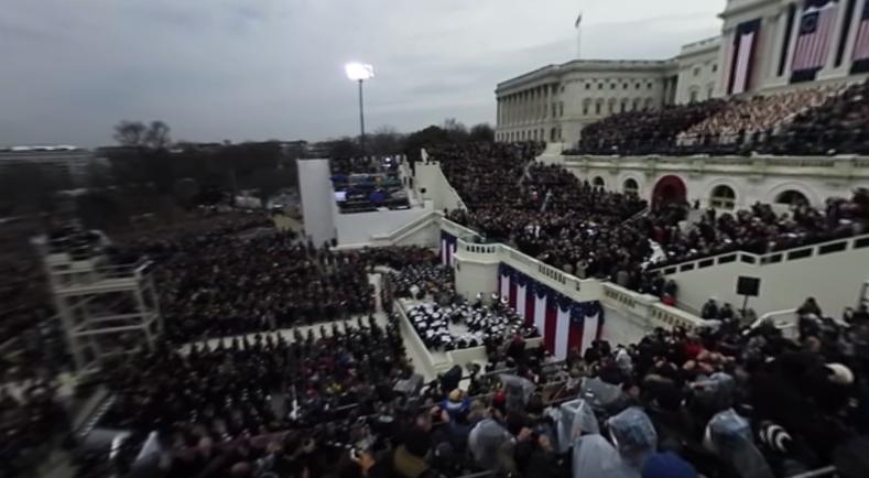 President Trump inauguration 360 view
