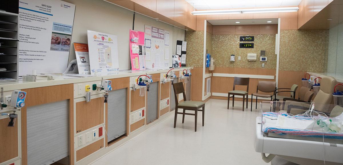 Long Island Jewish maternity discharge room