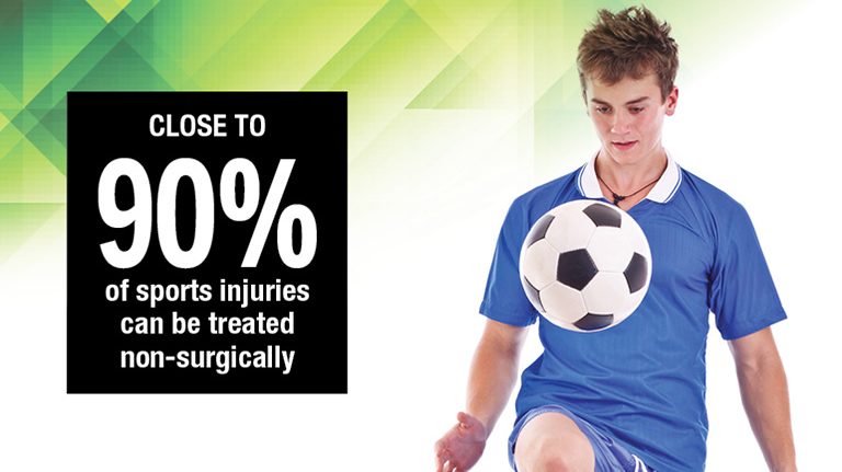 Don't Be Sidelined<br>By Sports Injuries